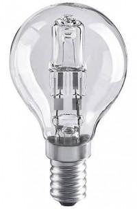 Лампа галогенная E14 28W шар прозрачный 4690389020896