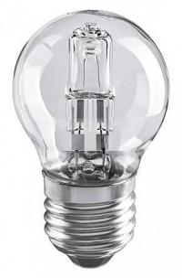 Лампа галогенная E27 28W шар прозрачный 4690389020919