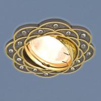 Встраиваемый светильник Elektrostandard 8006 MR16 GU/GD черный/золото 4690389060571