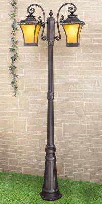 Садово-парковый светильник Elektrostandard Libra F/2 венге 4690389064753