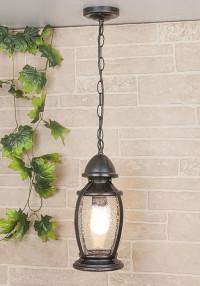 Уличный подвесной светильник Elektrostandard Antares H черное золото 4690389064975