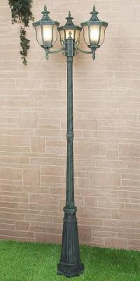 Садово-парковый светильник Elektrostandard Taurus F/3 малахит 4690389065057