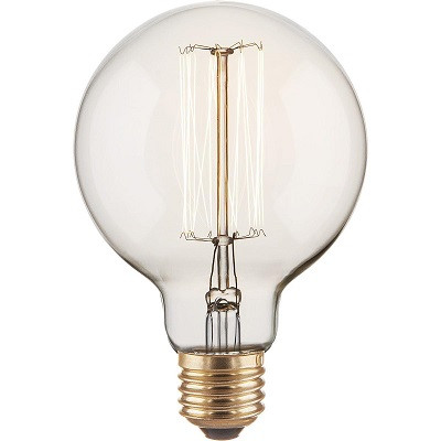 Лампа накаливания диммируемая E27 60W шар прозрачный 4690389082160