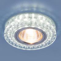 Встраиваемый светильник Elektrostandard 8381 MR16 CL/SL прозрачный/серебро 4690389098345