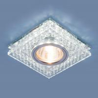 Встраиваемый светильник Elektrostandard 8391 MR16 CL/SL прозрачный/серебро 4690389098369