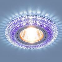 Встраиваемый светильник Elektrostandard 2193 MR16 CL/PU прозрачный/фиолетовый 4690389098895