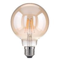 Лампа светодиодная E27 6W 3300K шар прозрачный 4690389100987