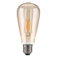 Лампа светодиодная E27 6W 3300K груша прозрачная 4690389100994