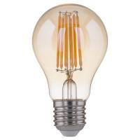 Лампа светодиодная филаментная Classic F E27 8W 3300K груша золотая 4690389108327